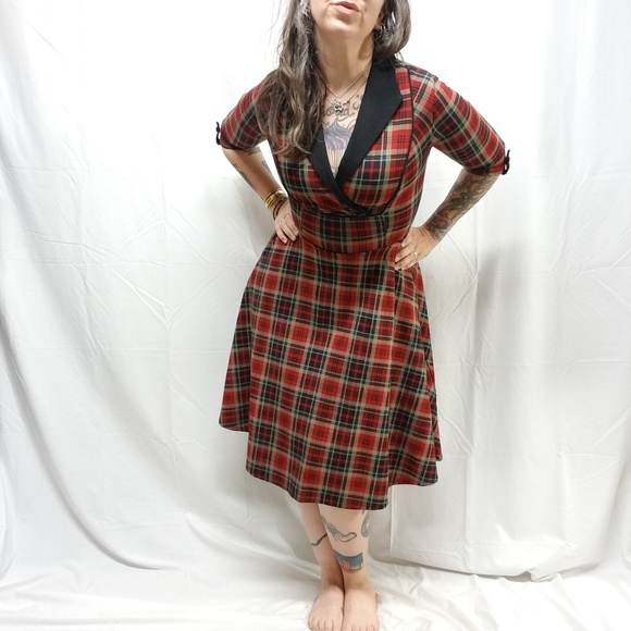 9b15be9a3208 Unique Vintage Dresses | Nwot Trudy Heavy Plaid Swing Dress | Poshmark
